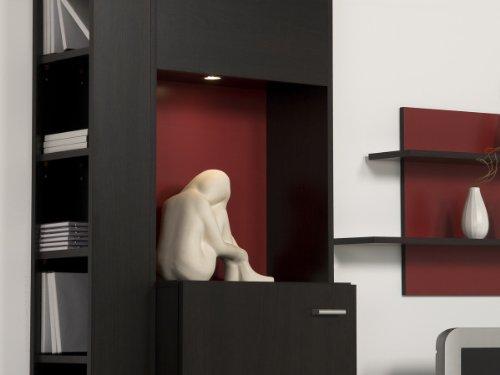 Wohnwand Wenge Rot – Top Design und Optik, Beleuchtung:ohne Beleuchtung - 2