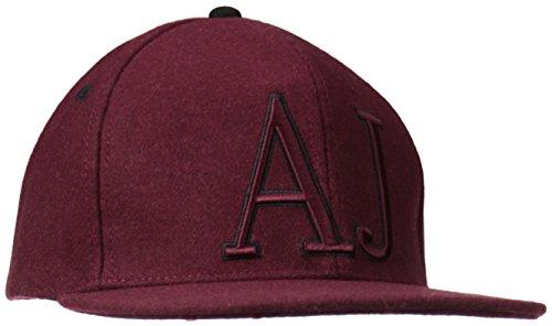 Armani Jeans cappello berretto regolabile uomo originale bordeaux