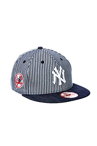 Casquette New Era New York Yankees Rayee Marine Blanc Homme