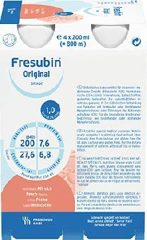 fresubin apotheke Fresenius Kabi Fresubin Original Drink Vanille Trinkflasche, 6 x 4 x 200 ml, 1er Pack (1 x 5,5 kg)