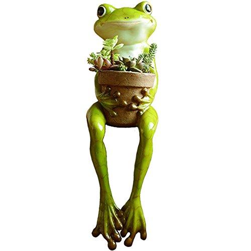 LUOER Sukkulente Blumentöpfe / Resin Blumentopf (Cute Frog Shaped) Tisch Ornament Europäischen Pastoralen Stil Handwerk Cartoon Garten Dekor im Freien Patio Ornamente Kunst Figuren Home Decor , #3 (Drei Hände Home Decor)