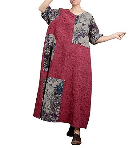 Yesno JC5 Women Dress Chinese Traditional Ancient Dress Ethnic Pattern