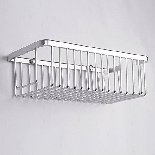 KES A4023 Duschkorb aus Aluminum, rechteckig, Wandmontage - 4