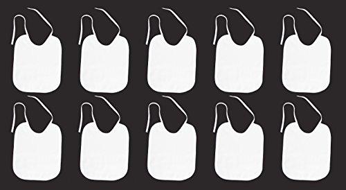10 Lätzchen weiß, Lätzchen zum Bemalen, Babylätzchen