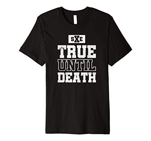 true until death straight edge crew t-shirt -