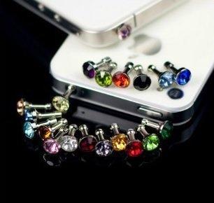 DESIGN FREUNDE 6 x Staubstecker Strass Staubschutz Stöpsel Kappe Bling Glitzer Diamant Strass Design Klinkenanschluss für alle gängigen Smartphones, 3.5mm Kopfhörer für Smartphone Handy Tablet iPhone 4 4S 5S 5G 5C, iPad 2 mini, Samsung Note 2 N7100, i9220 ,Note3 N9000 N9005 , Galaxy S3 i9300, S3 Mini i8190, i8262D , S2 i9100, i9268, Samsung Galaxy S4 i9500 i9505 i9268 HTC one M7 X, TC X920e, Nokia Lumia 920 928 n920 520 Sony L39H L36h Xperia, universal für alle Smartphones und Tablets mit Klinkenanschluss