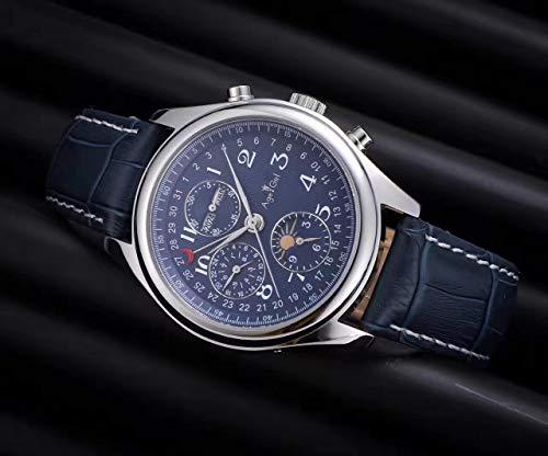 AGEGIERA Nuevo Reloj Hombre, Acero Inoxidable, Cristal de Zafiro, Parte Trasera, automático, mecánico...