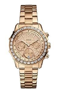 Guess Damen-Armbanduhr Chronograph Quarz Edelstahl W0016L5