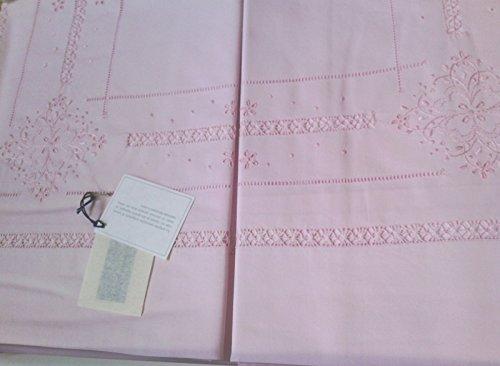 BELLAVIA Home Paar Bettwäsche Perkal Baumwolle pink
