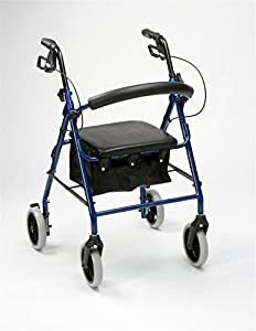 Drive Medical R8 Lightweight Aluminium Padded Seat Rollator (Choose Your Colour)