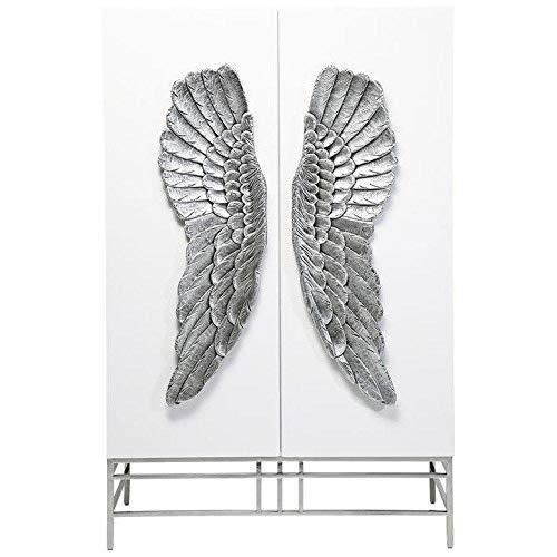 Kare Design Armoire Angel laqué Blanc, 2 Portes
