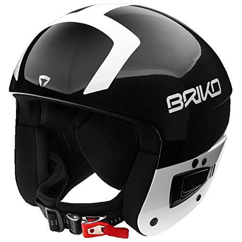 Briko Vulcano Fis 6.8 Jr, Casco Unisex – Adulto, C10Shiny Black White, S/M