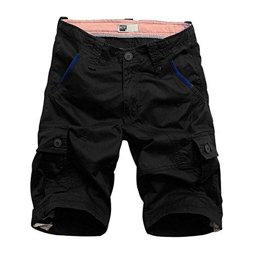 BicRad Herren Cargo Shorts,schwarz,W34