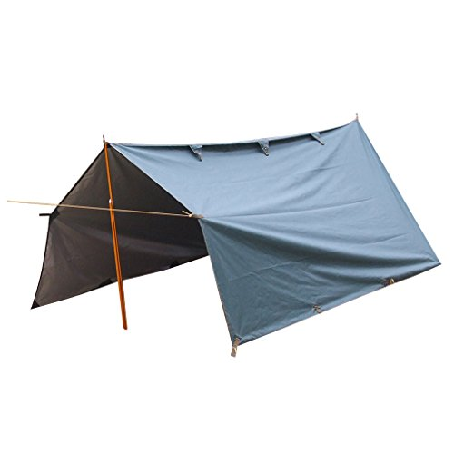 MagiDeal Auvent Tente Abri Etanche Randonnée Camping en Plein Air - Vert Foncé