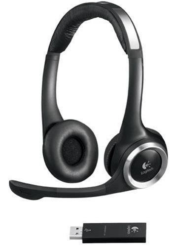 Logitech ClearChat Stereo Kopfhörer mit USB Transmitter schnurlos - Logitech Clearchat Pc