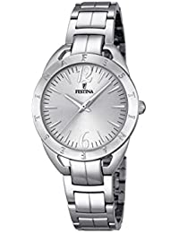 Festina - F16932-1 - Montre Femme - Quartz Analogique - Cadran Argent - Bracelet Acier Argent