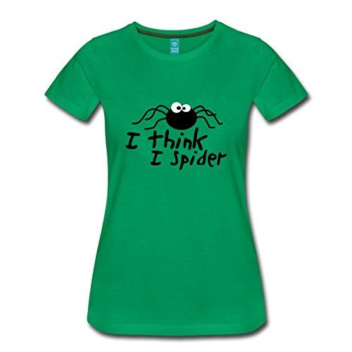 Spreadshirt I think i spider Frauen Premium T-Shirt, 3XL, Kelly Green (Grünen Spider T-shirt)