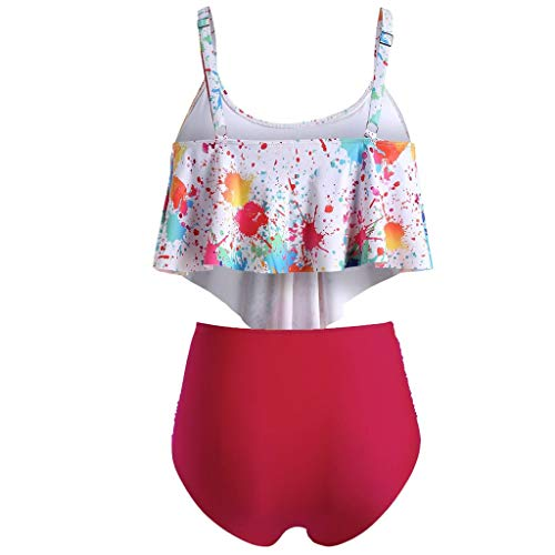 Preisvergleich Produktbild LSAltd Frauen Sommer Sexy Bunte Tie-Dye Push-Up Gepolsterte Plus Size Bikini Set Hohe Taille Badeanzug Beachwear