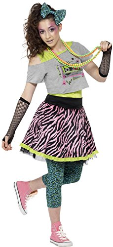Ladies 1980s 6 Piece Fancy Dress Costume - sizes 4-16 (Teen) or 8-10 (adult)