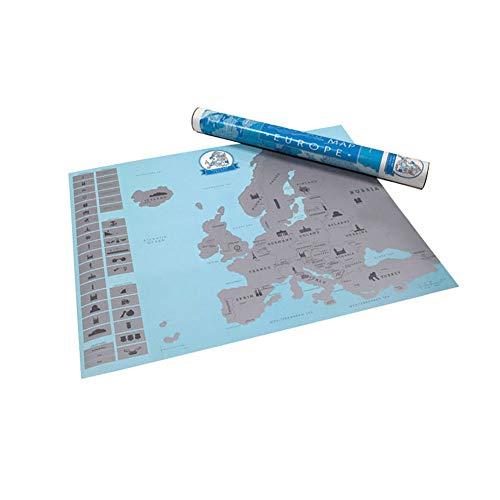 (Gfjhgkyu Wandtattoo, Motiv Spüren Sie Ihr Abenteuer, Scratch Off Europa-Karte Multi)
