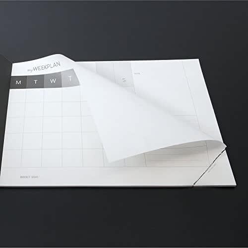 Idea regalo: Planning settimanale sottomano-dorso con GLITTER NERO - MY WEEK PLAN