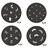 Generic 1Piece M Series Rounded Abstract Design Nail Art Stamp Stamping Image Template Plate NO.41-44(Assorted Pattern) #01348006 # 43
