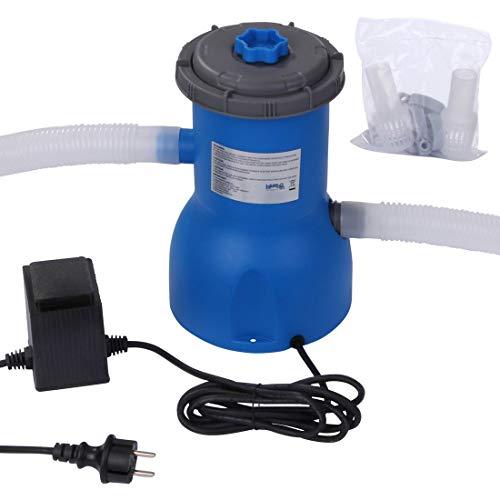 Blueborn Pool Pumpe PP 2006 L/h Kartuschen-Filterpumpe 230V 40W Schwimmbadpumpe Wasser Filteranlage Blau