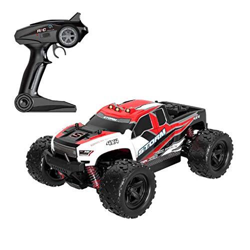 bloatboy  Ferngesteuertes Auto, 1:18 RC Auto Off Road 4x4 Elektro Racing Truck 36 km/h High Speed 2,4 Ghz Ferngesteuertes Auto Rock Crawler für Kinder und Erwachsene (Rot)