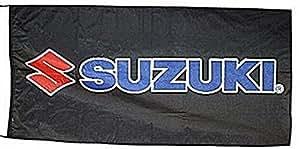 Drapeau Suzuki Grand Format Fond Noir 1500mm x 900mm (of black)