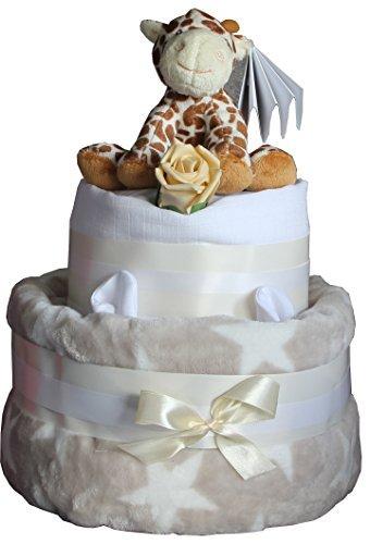 Gâteau de couches Unisexe STAR & Girafe Mignon neutre design idéal pour fête de naissance bébé maternité Leave