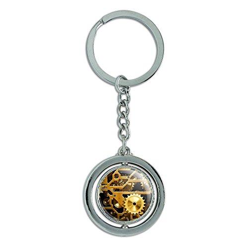 e Messing Spinning rund Metall Schlüsselanhänger Schlüsselanhänger Ring (Spinning Gear)