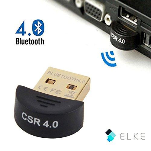 ELKE®Bluetooth 4.0 USB Adapter, Wireless Bluetooth USB Dongle Stick | Plug & Play | hohe Signalstärke | Kompatible Windows XP / Vista / 7 / 8 /8.1 | Unterstürtzt Bluetooth A2DP-Stereo-Wiedergabe & EDR