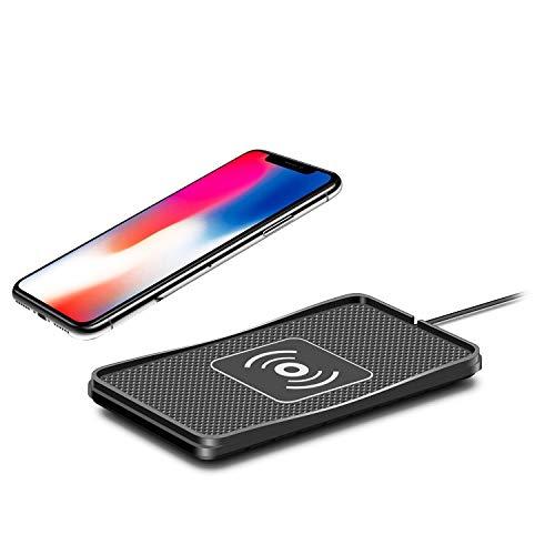 SODIAL Caricabatteria da Auto per Ricarica Wireless Senza Scivolamento per iPhone X 8 8Plus Samsung S8 / S8 + / S7 / S7Edge / S6 / Edge / Note8 / 5