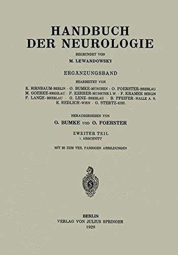 Handbuch der Neurologie: Erg????nzungsband Zweiter Teil 1. Abschnitt (German Edition) by K. Birnbaum (1928-01-01)