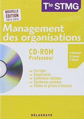 Management des organisations Tle STMG : Professeur 2015 (1Cédérom)