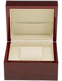 Uhrenkoffer Uhrenaufbewahrung Uhren Schatulle Lila Synthetik Kroko für 5 Uhren