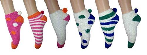 -bon-marche-6-chaussettes-pour-dames-avec-pom-pom