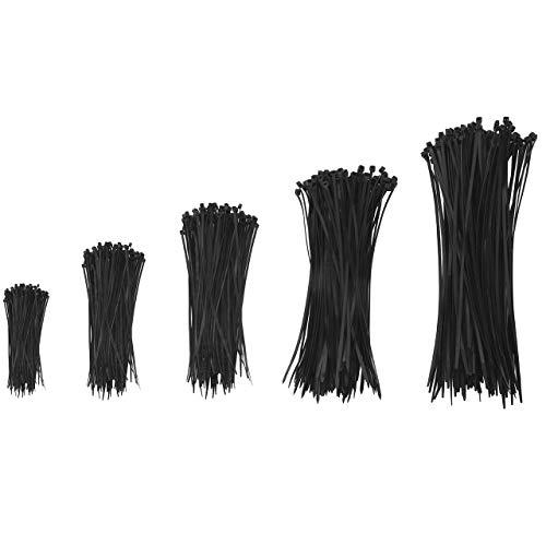 Magiin 500 Pcs Serres-Câbles Attaches de Câble Réglable Durable en Nylon Zip pour Domestique Officiel Garage Atelier Industriel Heavy Duty