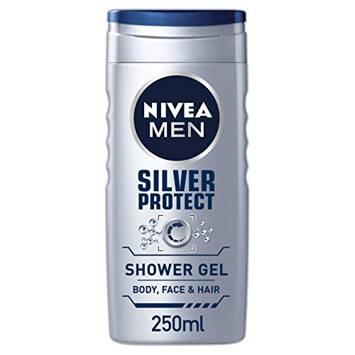 NIVEA MEN Silver Protect Shower Gel 250ml Pack of 6