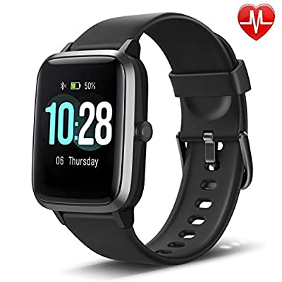 """LETSCOM Fitness Tracker with Heart Rate Monitor, Smart Watch, Activity Tracker, Step Counter, Sleep Monitor, Calorie Counter, 1.3"""" Touch Screen, IP68 Waterproof Pedometer Watch for Kids Women Men by LETSCOM"""