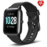 "LETSCOM Fitness Tracker with Heart Rate Monitor, Smart Watch, Activity Tracker, Step Counter, Sleep Monitor, Calorie Counter, 1.3"" Touch Screen, IP68 Waterproof Pedometer Watch for Kids Women Men"