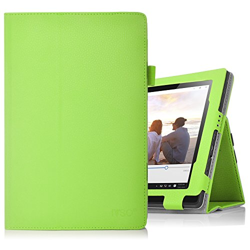 Lenovo Miix 310 hülle, IVSO hochwertiges PU Leder Etui hülle Tasche Case - mit Standfunktion,super 360° Anti-Wrestling, ist für Lenovo Miix 310 25,65 cm (10,1 Zoll HD) Tablet PC ideal geeignet, Grün