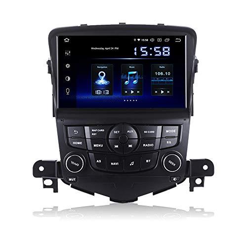 Dasaita 8 Zoll Android 9.0 1 Din Autoradio mit Navi mit DSP 4G RAM 64G ROM für Chevrolet Cruze 2008 2009 2010 2011 Bluetooth Radio Auto Unterstützung WiFi DAB+ Carplay USB Lenkradsteuerung FM/AM Onstar-system