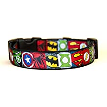 Superheros Batman Superman Spiderman Green Arrow Captain America Green Lantern Collar Perro Hecho a Mano Talla M sin Correa Dog Collar HandMade