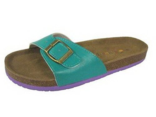 Mesdames classique style mule Sandales Turquoise - Turquoise