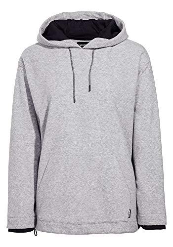 Chiemsee Damen Oversize Fleece Pullover mit 3D Logo Fleecejacke, Neutral Gray, L Logo Fleece Pullover