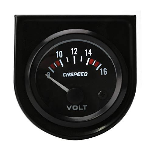 """ZJP-Car Instruments Voltmeter 2""""(52 Mm) Universal 8-16 Volt Voltmeter Stromzähler Geschwindigkeitsmesser Sensor Device"""