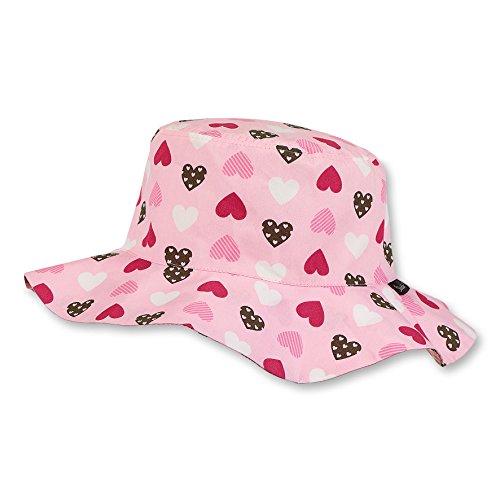 Sterntaler Hut für Mädchen mit weiter Krempe und süßem Herzchenmotiv, Alter: ab 18-24 Monate, Größe: 51, Rosa