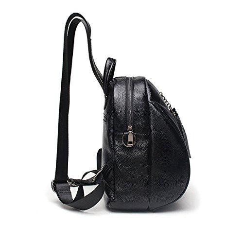 Umhängetasche Neu College Wind Mode Leder Handtaschen Persönlichkeit Kleiner Rucksack Black