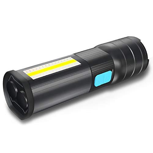 Momola IPX5 USB Wiederaufladbar LED Taschenlampe,Multifunktions L2 COB LED Slim Arbeitsleuchte Lampe Taschenlampe Wiederaufladbar 5200mAh 19,2 x 7,5 x 5,3 cm -